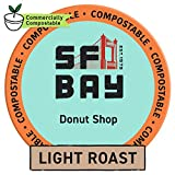 SF Bay Coffee Donut Shop 80 Ct Light Roast Compostable Coffee Pods, K Cup...