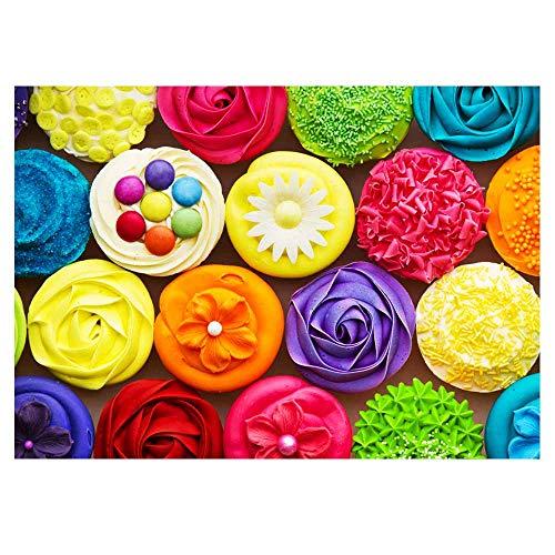 Puzle de 500 piezas Fishwisdom para adultos y adolescentes familias Happy Time Idea regalo Cupcake 2