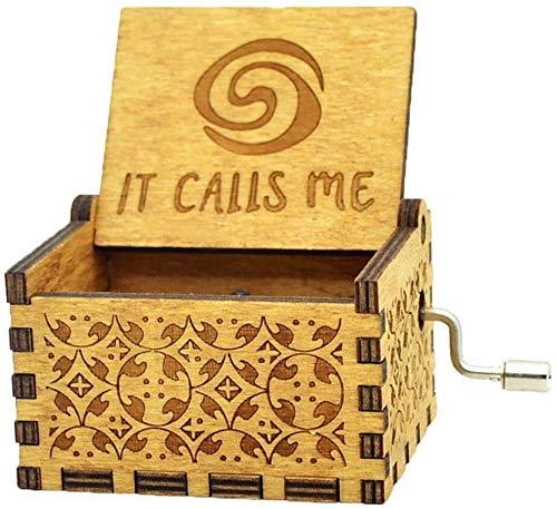 Elise Karibik Davy Jones Music Box Handkurbel Antike hölzerne Musik BoxOctopus Halskette for Hauptdekoration Sammlung Yjiangluochen (Size : Moana(it Calls me))