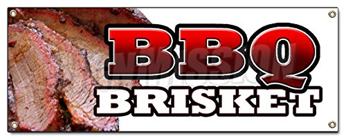 BBQ Brisket Banner Sign Slow Cooked Texas North Carolina Pork Beef Good