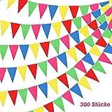 [page_title]-BAKHK 300 Stück Mehrfarbige Wimpelkette Banner Bunte Wimpel, 114M Nylon Stoff Dekorationen Flaggen Für Festival Parteien,Hinterhof Picnics und Hochzeiten