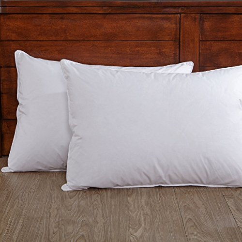 puredown Luxury White Down Pillows for Sleeping Soft Bed Pillows for Stomach Sleepers Set of 2 Standard/Queen Size