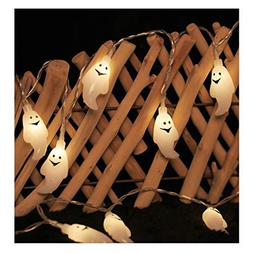 YHWD LED Luces de Halloween,Lámpara Fantasma de decoración Halloween,Accesorios Fiesta Halloween,Bateria cargada,Adecuado para Halloween, Carnaval, Navidad, Fiestas de cumpleaños,Warm White,1.2m