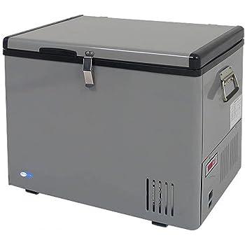 Whynter FM-45G 45 Quart Portable Refrigerator AC 110V/ DC 12V True Freezer for Car, Home, Camping, RV -8°F to 50°F, One Size, Gray