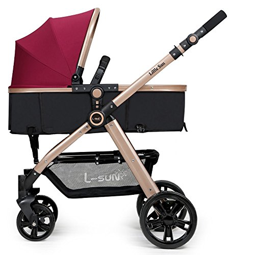 Learn More About WAWDZG Stroller High Landscape Can Sit Or Lie Two-Way Portable Baby Baby Car Trolle...