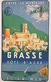 Grasse Cote d'Azur Poster Reproduktion, Format 50 x 70 cm,