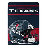 Northwest NFL Houston Texans 46x60 Micro Raschel Run Design Rolled Blanket, Team Colors, One Size (1NFL059050119RET)