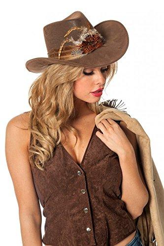 shoperama -   Brauner Cowboyhut