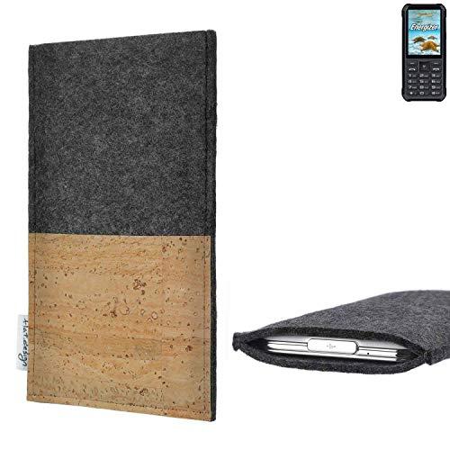 flat.design vegane Handy Hülle Evora für Energizer H20 Kartenfach Kork Schutz Tasche handgemacht fair vegan