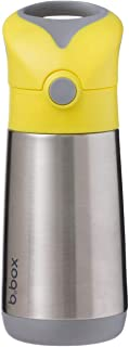 b.box Insulated Drink Bottle | 12oz | Insulating Double Wall Stainless Steel | Keeps Cold up to 8 Hours, Keep Warm 6 Hours | Color: Lemon Sherbet, Yellow