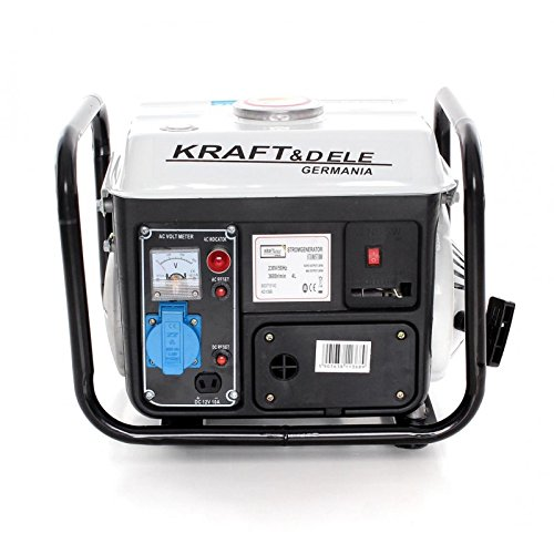Elektrogen-Gruppe TR-KD109B Stromgenerator Typ Silent tragbar 1300 W, 1000 Watt, 2-stufiger Motor, einphasig, mit katalytischem Auspuff. Betrieb mit Mischung, 2%, Starthilfe, 1 Steckdose Bianco
