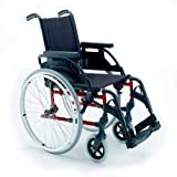 Silla de ruedas plegable Breezy Premium con ruedas de 24' - 46, GRIS SELENIO, NEUMATICAS