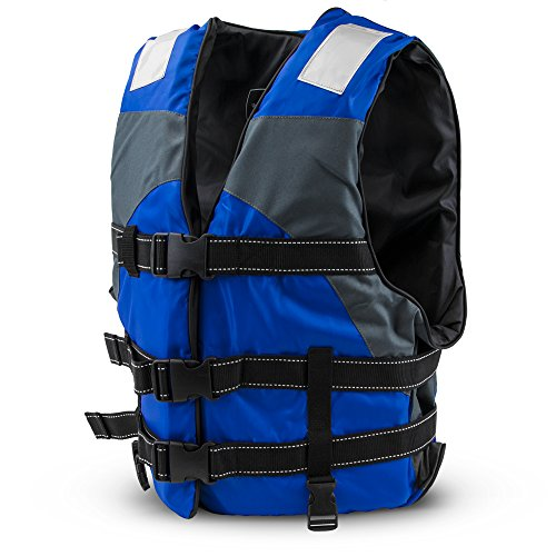 Crown Sporting Goods SBOA-001 Multi-Sport Personal Flotation Device Life Vest, Blue