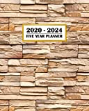 2020-2024 Five Year Planner: Simple Stone Wall | Architecture Abstract Detail Design | 60 Month Calendar and Log Book | Business Team Time Management ... 5 Year - 2020 2021 2022 2023 2024 Calendar)