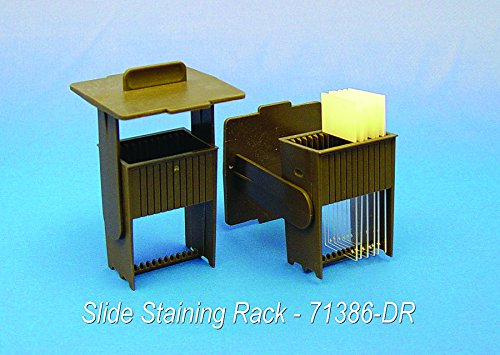 Easy Dip Slide Staining Kit (Jar+Rack), White…
