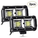 LED Work Light 24V, 5 Inch LED Light Bar 96W 9600LM Flood Lights 12V/24V Off Road Driving Fog Lights for Car...