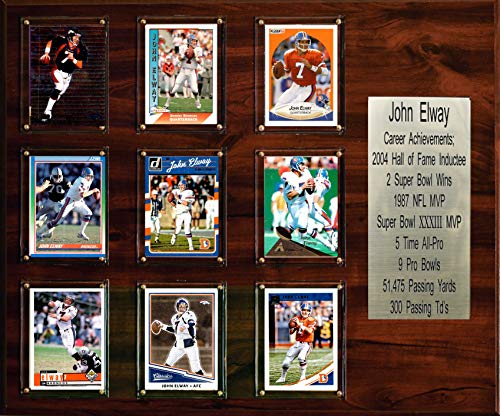 "C & I Collectibles NFL 15""x18"" John Elway Denver Broncos Career Stat Plaque"