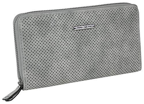 Jennifer Jones Große Damen Geldbörse Clutch-Portemonnaie Reißverschluss (Grau)