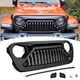Haitzu Grill Fit for Jeep Wrangler JL Accessories Gladiator Grille 2018 2019 2020 2021, Angry Vader Grill for JL JLU Unlimited Rubicon Sahara Sports