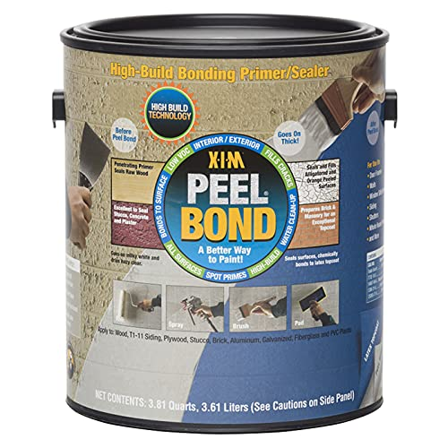1 gal XIM Products 11461 Clear XIM, Peel Bond Water-Based Acrylic Primer/Sealer Pack of 1