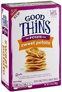 Nabisco, Good Thins, 3.75oz Box (Pack of 4) (The Potato One - Sweet Potato) by Good Thins