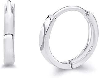 14k Yellow OR White Gold 2mm Thickness Huggie Earrings (11 x 11 mm)