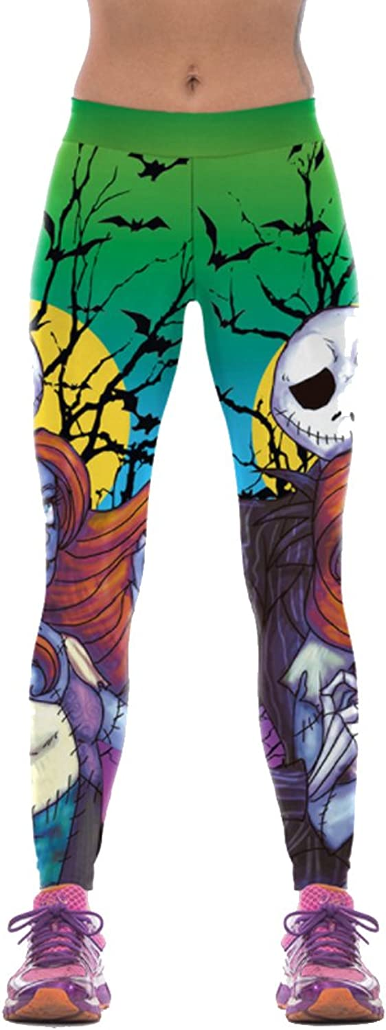 Thenice Women's Halloween Sport Yoga Stretchy Leggings Pencil Pants