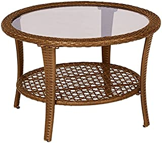 Amazon Com Wicker Coffee Tables Tables Home Kitchen
