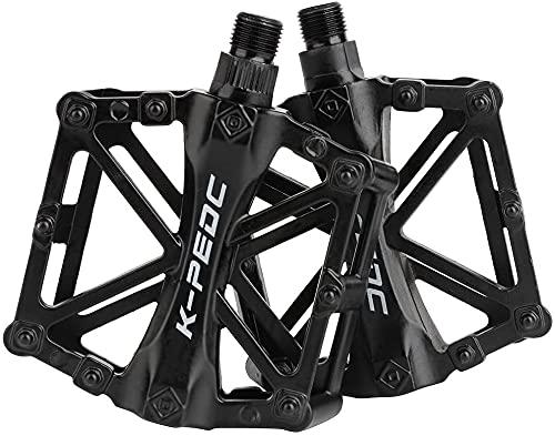 CLHBES Pedali per Bicicletta Pedali per Bici da Montagna Pedali per Bici in Alluminio Antiscivolo Cuscinetto sigillato Resistente per Mountain Bike BMX MTB Bici da Strada