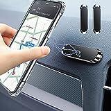Timpou Soporte magnético para automóvil para teléfono inteligente, soporte para teléfono celular con mini tira compatible con iPhone Samsung y otros teléfonos móviles