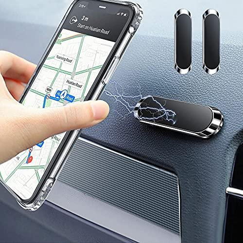 Timpou Supporto Magnetico per Auto per Smart Phone, Base Adesiva 3M, Supporto per Cellulare Mini Strip Compatibile con iPhone Samsung e Altri telefoni cellulari-2 Pack