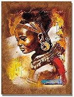 クロスステッチキット黒人女性11CT刻印針先プリントパターンキット家の装飾のためのクロスステッチ縫製刺繍