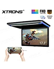 XTRONS 17,3pulgadas 16: 9ultrafina FHD Digital Monitor de Techo TFT pantalla coche Overhead Reproductor de vídeo de 1080p HDMI PUERTO 19201080completa alta definición