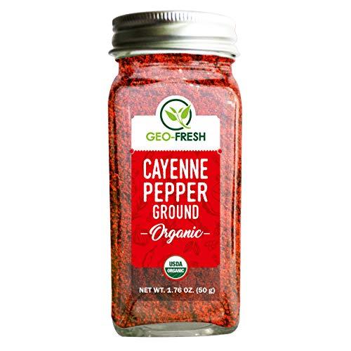 Geo-Fresh Organic Cayenne Ground 1.76 OZ. (50 g)