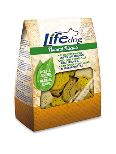 Life Dog Natural Biscuits, Biscotti a Forma di animaletti. 500gr