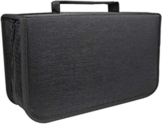 Sanwooden Discs Holder 128 Discs Dvd Cd Holder Zipper Album Storage Case Wallet Carrying Bag Organizer Internal Storage