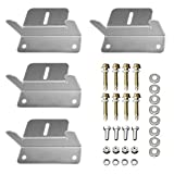 z shape bracket - HQST Solar Panel Mounting Z Brackets with Nuts and Bolts - 4 Sets of RV, Boat, Roof, Wall and Other Off Gird Installation Compatible with Most Brand Renogy, Richsolar, Newpowa