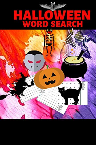 Halloween Word Search: Halloween Gift| Word Search Puzzle Book| Halloween Gift For Teens, College Students, Coworkers and Office Employees (Gag Gift)
