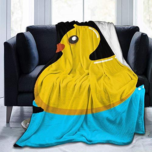 VJSDIUD Manta de Felpa de Franela súper Suave de Pato de Goma para sofá, Microfibra Suave, cómoda y Ligera, para Todas Las Estaciones, Manta de Cama, 60 'x 50'