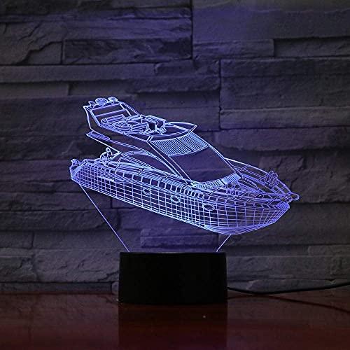 Lampada 3D Illusion Luce Notturna A Led 7 Colori Che Cambiano Atmosfera Luminosa Lampada Da Tavolo Lampadina Domestica Interruttori Tattili Luminario