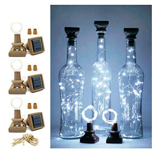 OUCRIY 100 PCS Solar Flaschenlicht Kork Flaschen Lichter