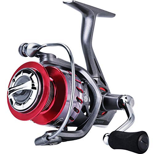 Sougayilang Fishing Reel 5.2:1/6.2:1 Light Smooth Spinning Reel with Powerful Carbon Fiber Drag System for Saltwater or Freshwater -AT1000