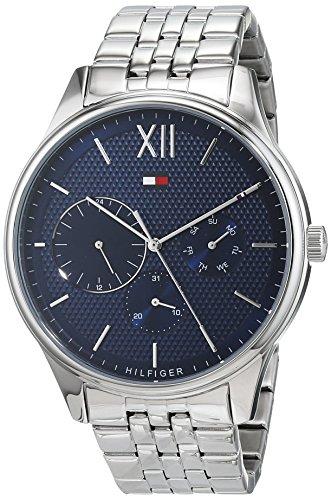 Tommy Hilfiger Herren Multi Zifferblatt Quarz Uhr mit Edelstahl Armband 1791416