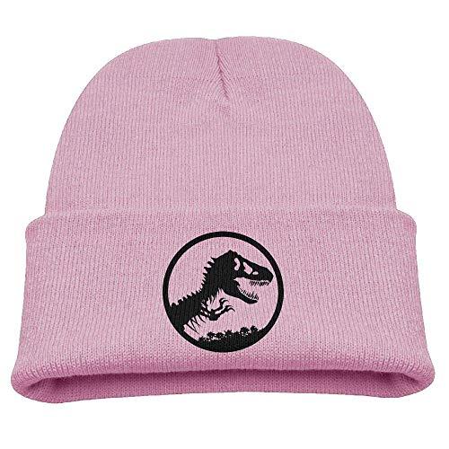 Baby Beanie-Mütze mit Dinosaurier-Motiv, warm, gestrickt, Wollmütze für Kinder
