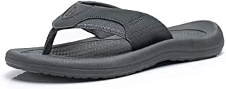 FITORY Men's Flip-Flops, Thongs Sandals Comfort Slippers for Beach