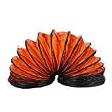 tonchean Duct Hosing, 16.5 ft PVC Flexible Ducting Hose with S Hook and Steel Support Coils for 12 Inch Utility Blower Exhaust Fan