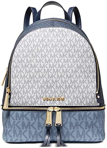 MICHAEL Michael Kors Rhea Zip Medium Backpack Navy Multi One Size product image