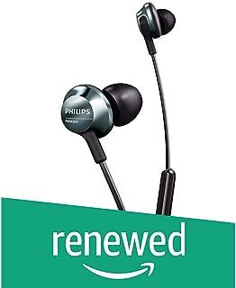 (Renewed) Philips Pro Series in Ear Headphones with mic PRO6305BK (Black)