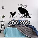 56x85cm heureux killer whale mur art déco fait de vinyle autocollant pouponnière toilettes mur autocollants rpr