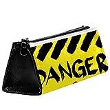 EZIOLY Grunge_Danger_Warnzeichen, Stifteetui, Stifteetui, Kosmetiktasche, kompakt, mit...